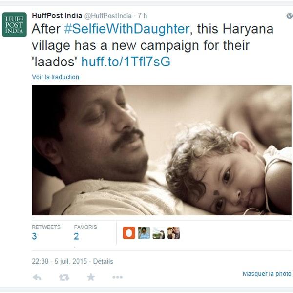 Twitter campagne de selfies de p res avec leurs filles for Lutter contre l humidite dans une chambre