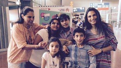 Maude Versini a retrouvé ses enfants pour les vacances   d'été