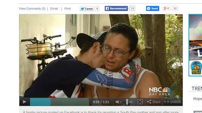 Une mère retrouve son enfant grâce à Facebook