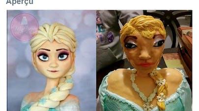 Une famille terrifiée par un gâteau de la Reine des   Neiges