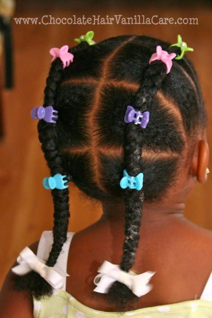 Ordinaire Tresse Pour Petite Fille #10: Deux Jolies Nattes