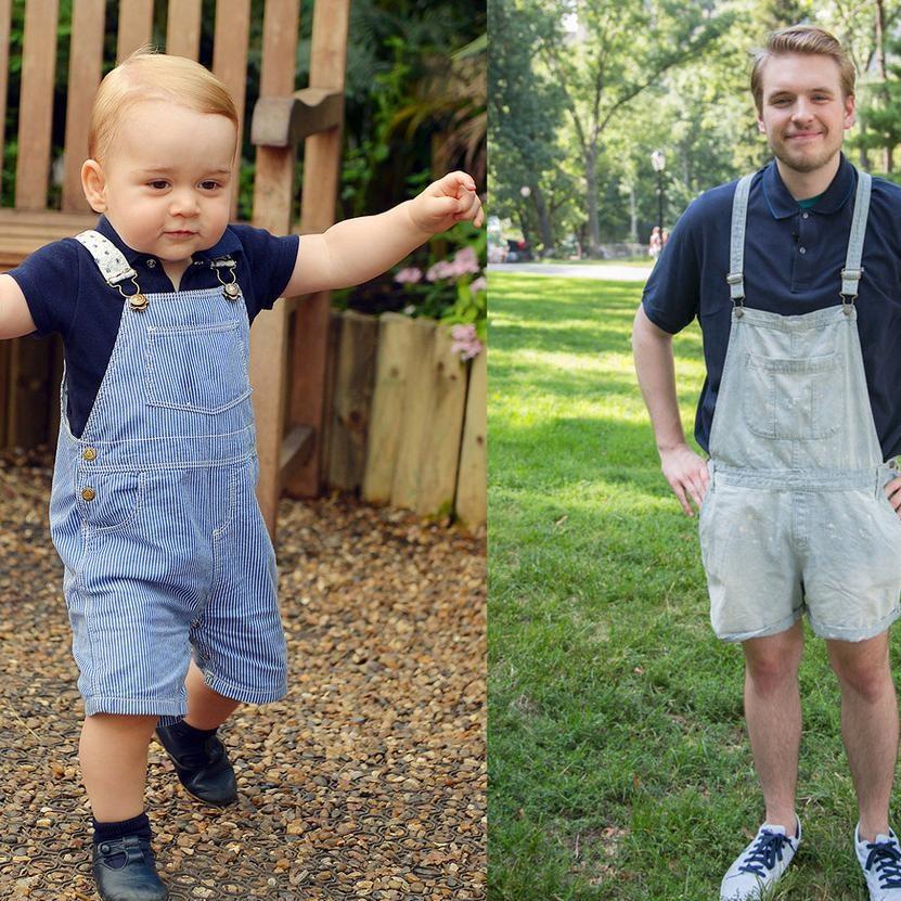 A 23 ans, il adopte le look du prince George pendant une  semaine !