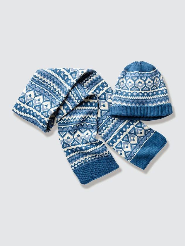Ensemble bonnet plus écharpe