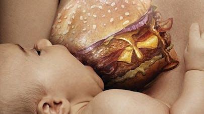 Photos : une campagne choc pour alerter les futures mères   aux dangers de la junk-food