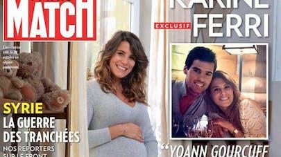 Karine Ferri enceinte se confie à Paris Match.