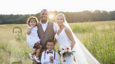 Une photo de mariage retouchée très émouvante