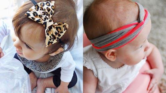 DIY : 15 bandeaux pour bébés absolument craquants
