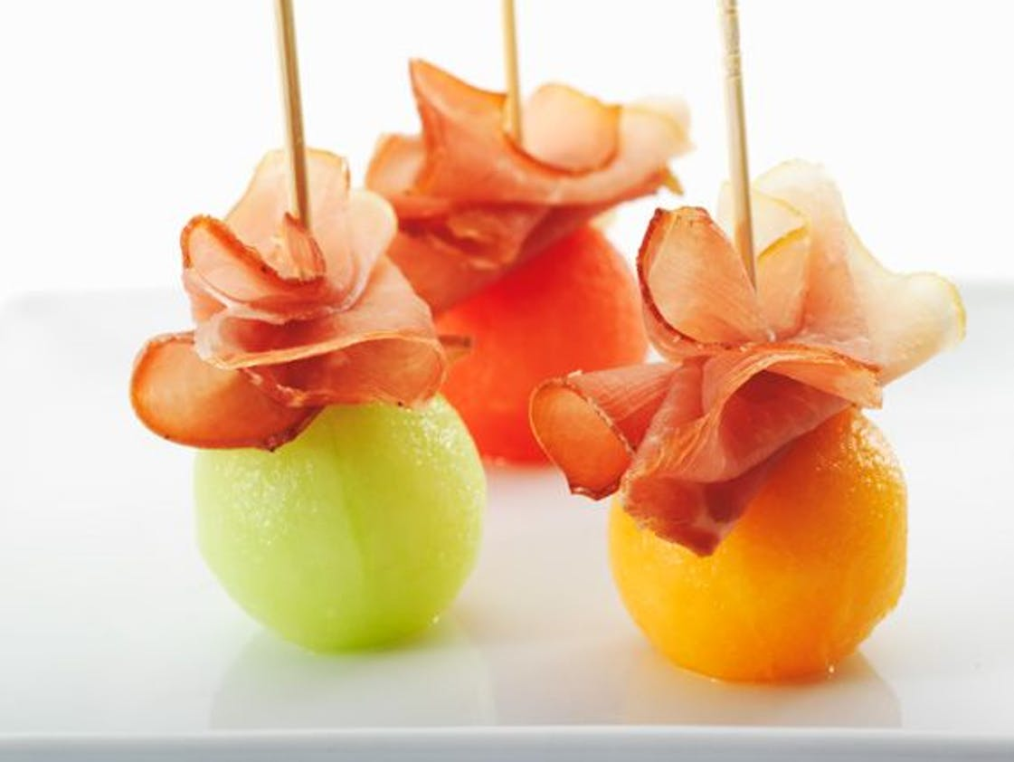 Billes fruits et jambon