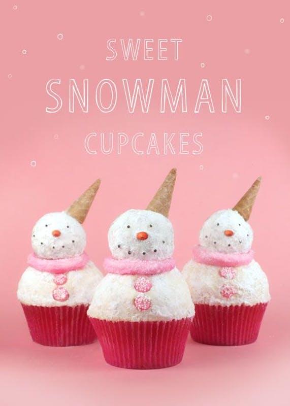 Cupcakes Snowman