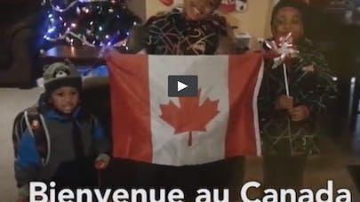 Vidéos : des enfants canadiens souhaitent la bienvenue aux   réfugiés syriens