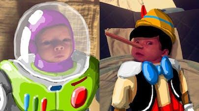 Un papa transforme son bébé en super-héros grâce à   Snapchat (photos adorables)