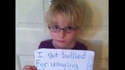Vidéo : une petite fille reçoit le soutien de nombreux   internautes contre le harcèlement à l'école