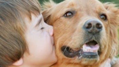Dans une vidéo émouvante, un enfant retrouve son chien   disparu