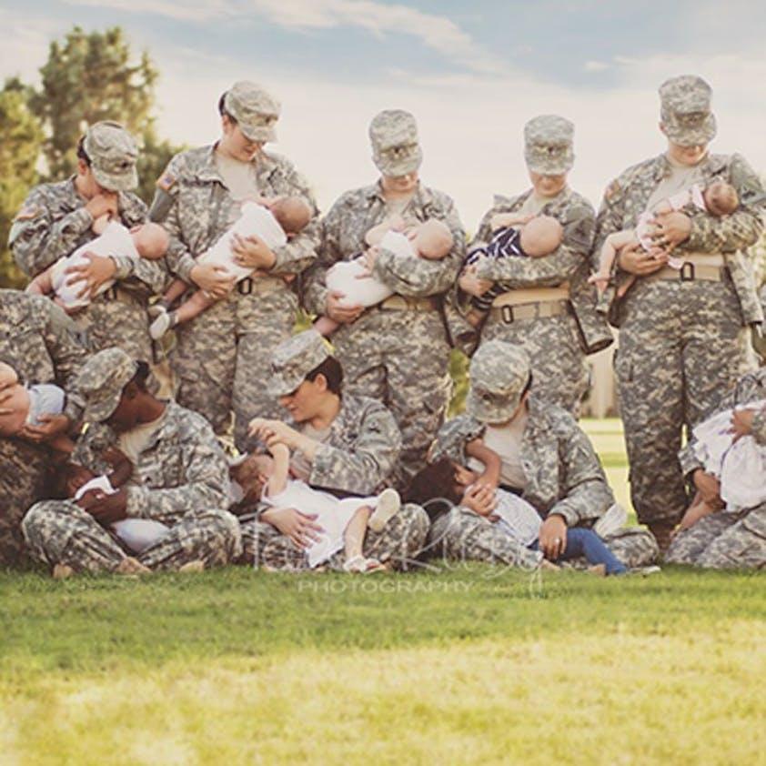 Elle veut normaliser l'allaitement chez les         militaires