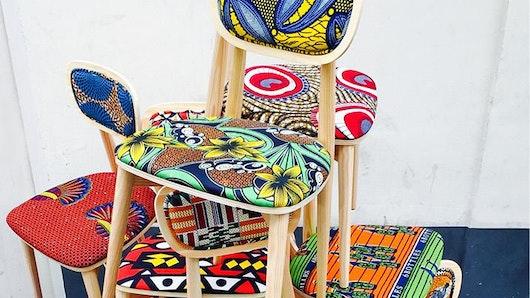d coration int rieur la tendance du tissu africain wax. Black Bedroom Furniture Sets. Home Design Ideas
