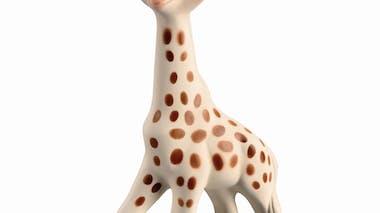 Sophie la girafe, aux petits soins pour maman et bébé !