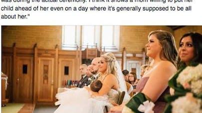 """Une maman allaite sa fille en disant """"oui"""" à son mariage   !"""