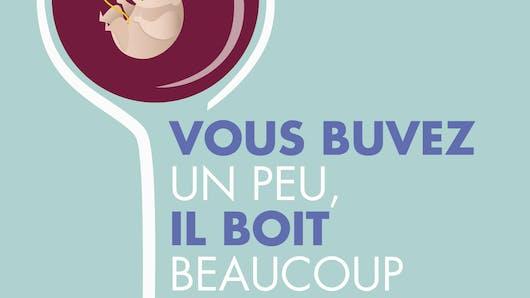 Grossesse : « Vous buvez un peu, il boit beaucoup»,   la nouvelle campagne anti-alcool