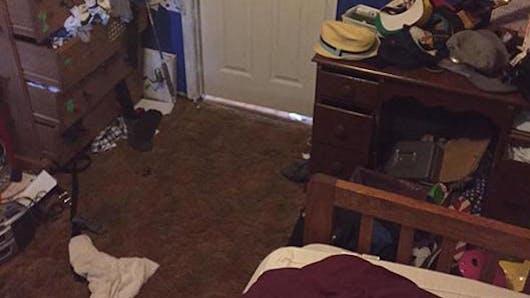 Quand les enfants rangent leur chambre, voici le résultat  (humour) !