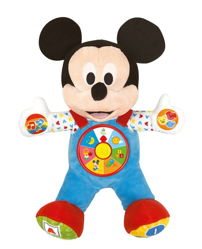 1-2 ans: Baby Mickey, mon meilleur Ami,         Clementoni, 32,90 €. Dès 12 mois. Disponible chez         Toys'R'Us.