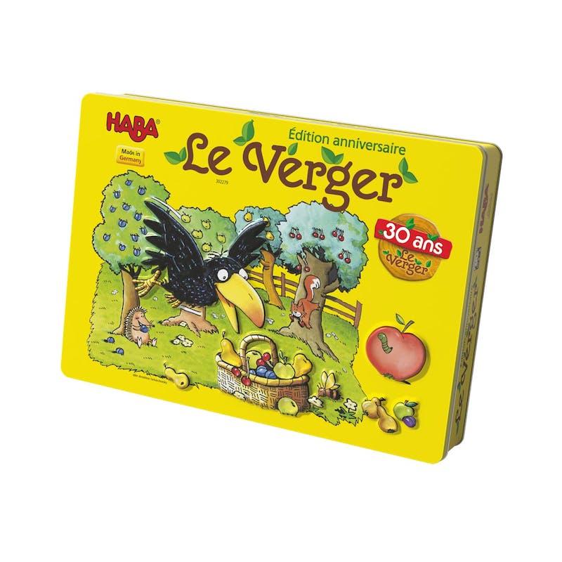3-5 ans:Jeu de société collector Le verger,         Haba, 38,90 €. Dès 3 ans.