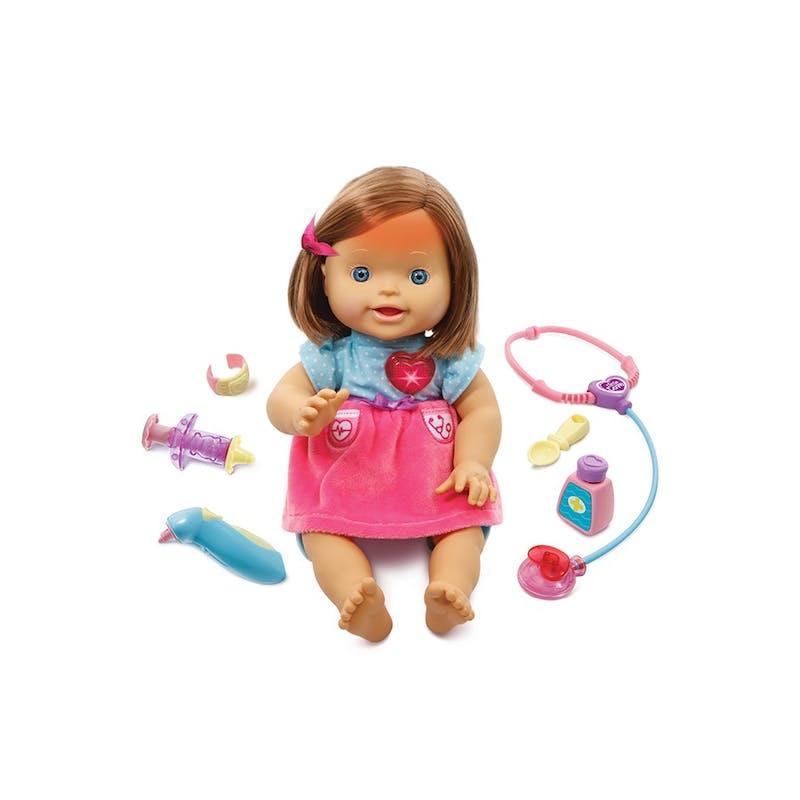 3-5 ans:Ma poupée interactive à soigner, VTech,         49,99 €. Dès 3 ans.