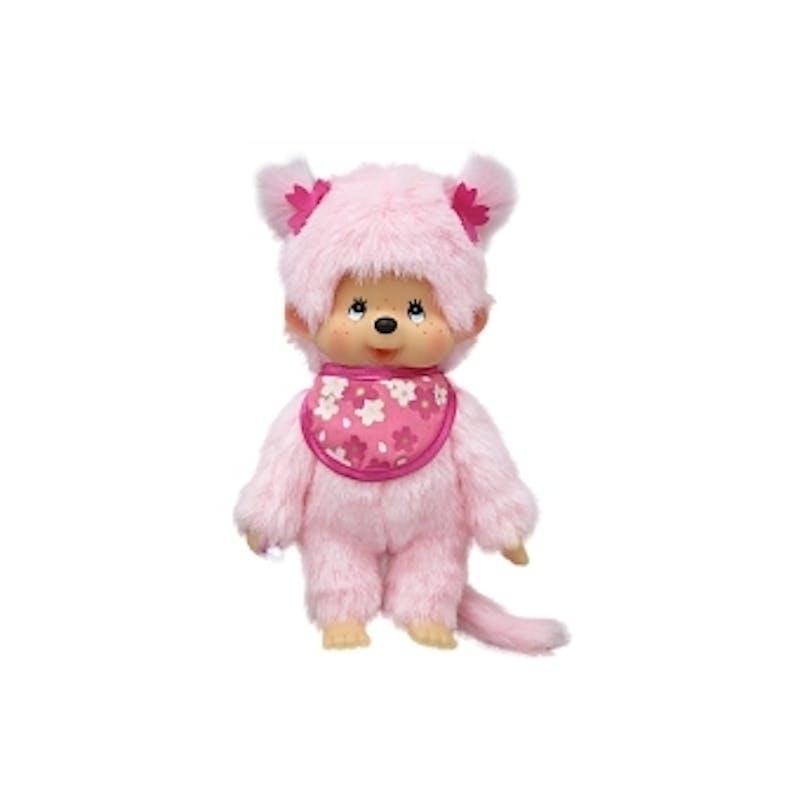 3-5 ans:Monchhichi Pinky en fourrure, 20 cm         Bandai, 22 €. Dès 3 ans.