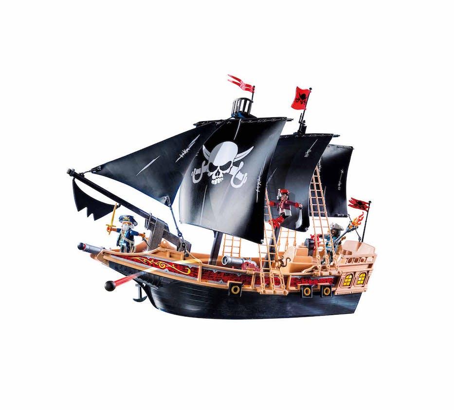 Bateau Pirates des ténèbres Playmobil, 59,90 €. Dès 4         ans.