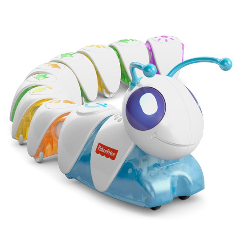 Chenille programmable, Fisher-Price, 69,99 €. Dès 3         ans.