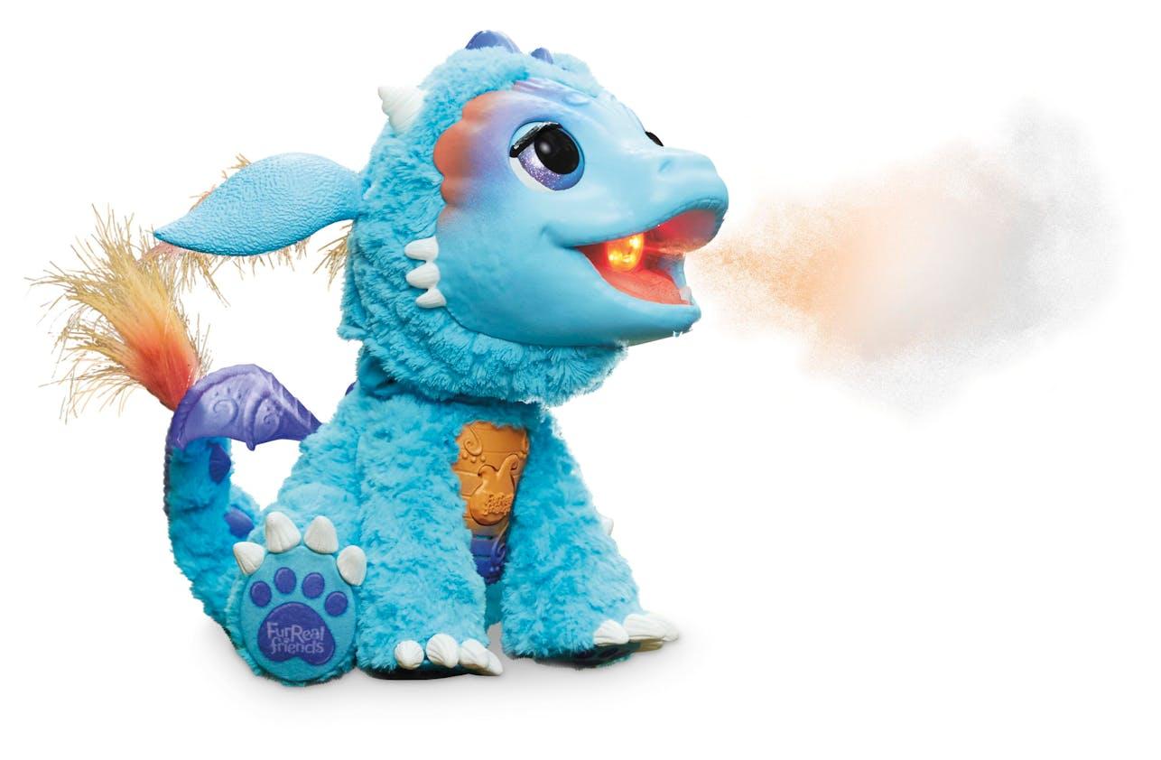Dragon cracheur de feu Torch, Hasbro, 99,99 €. Dès 4         ans.