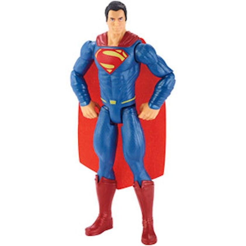 Figurine Superman 30 cm, Mattel, 13,99 €. Dès 3         ans.