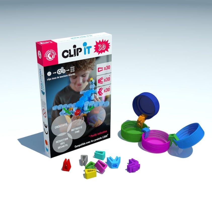 Jeu d'assemblage Clip It 3 D, 19,95 €. Dès 4         ans.