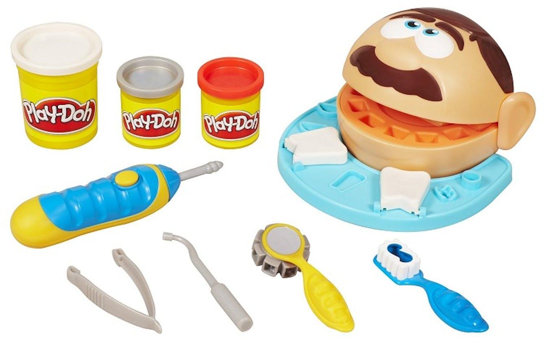 Jeu du dentiste en pâte à modeler Play-Doh Hasbro,         17,99 €. Dès 3 ans.
