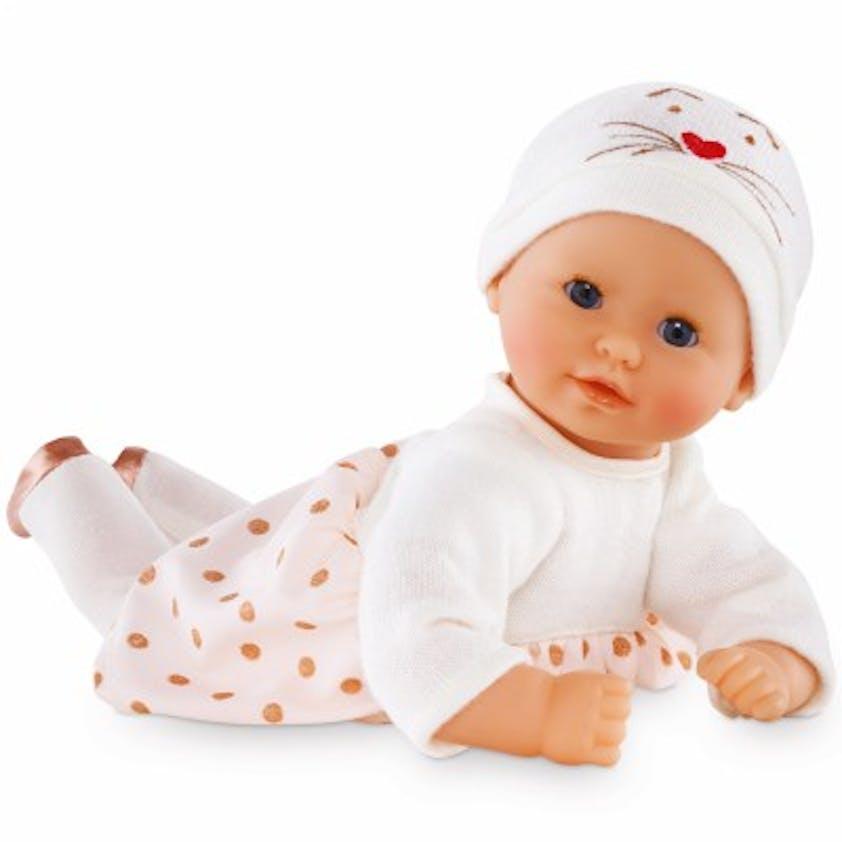 Poupon Mon premier bébé câlin, Trésor des Neiges,         Corolle 30 cm, 37 €. Dès 18 mois.