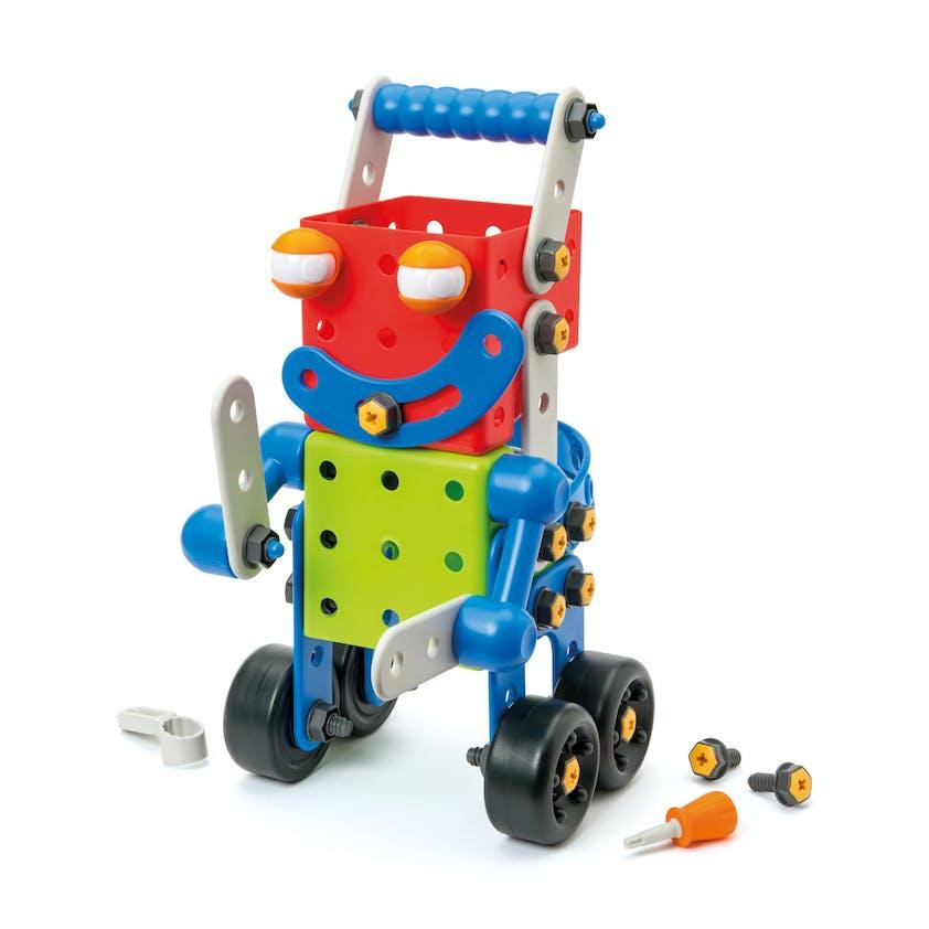 Robot Build it géant, Oxybul Eveil et Jeux, 49,99 €.         Dès 3 ans.