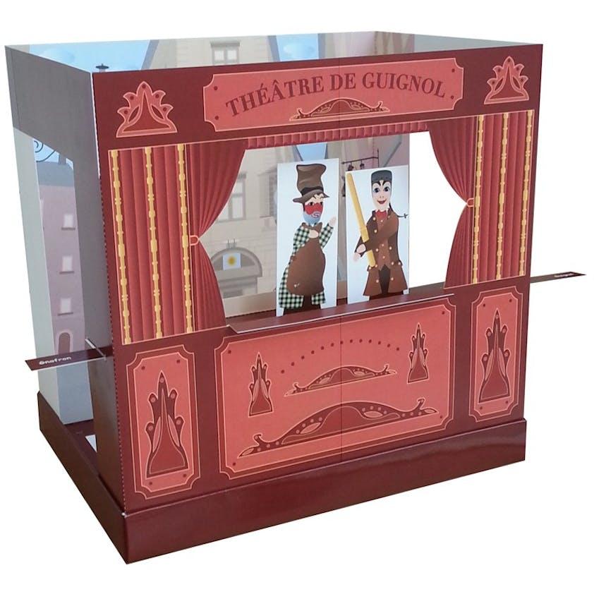 Théâtre de Guignol à construire, Dame fourmis, 15 €.         Dès 3 ans.