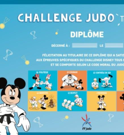 Walt Disney Company France et la Fédération française de   judo encouragent les enfants à faire du sport