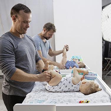 Pampers organise un casting de papas