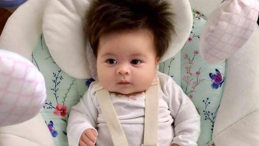Un nouveau bébé chevelu affole le web ! (PHOTOS)
