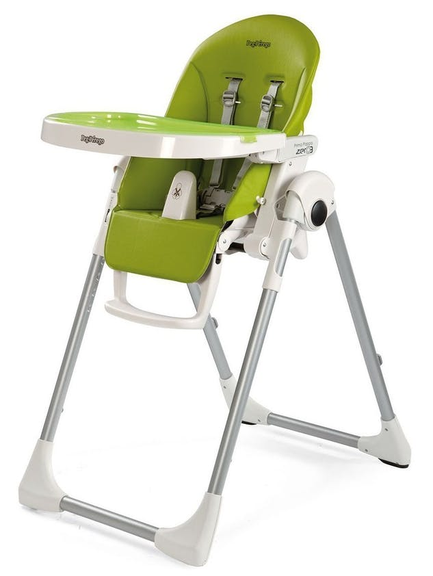 Chaise haute Prima Pappa Zero3 de Peg-Pérego - vert