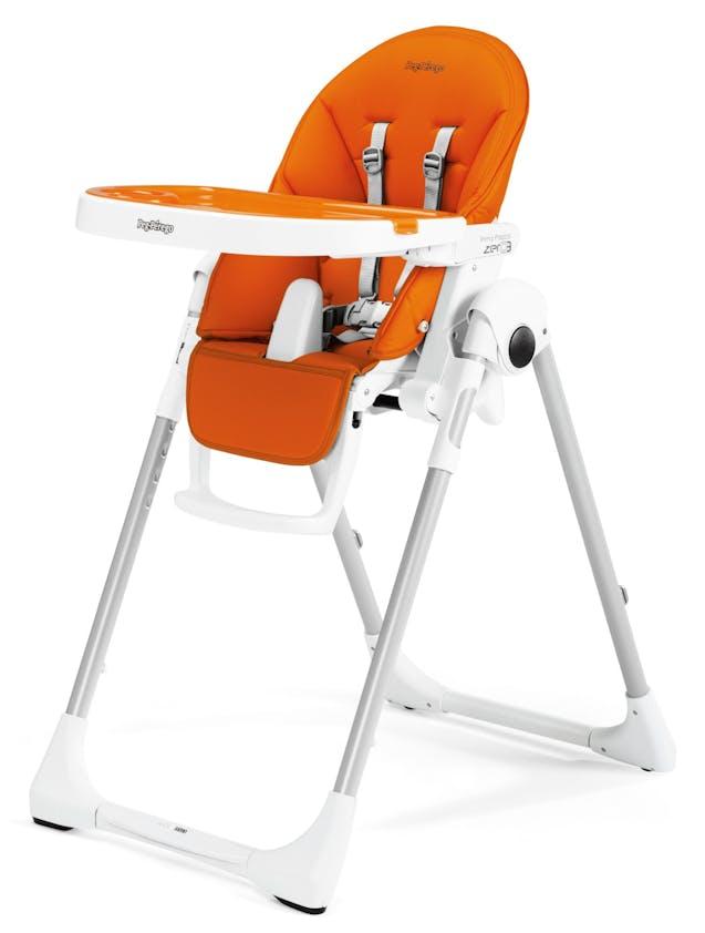 Chaise haute Prima Pappa Zero3 de Peg-Pérego - orange