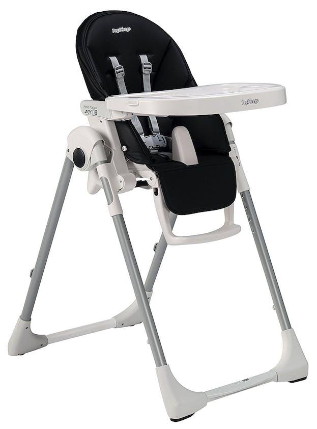 Chaise haute Prima Pappa Zero3 de Peg-Pérego - noir