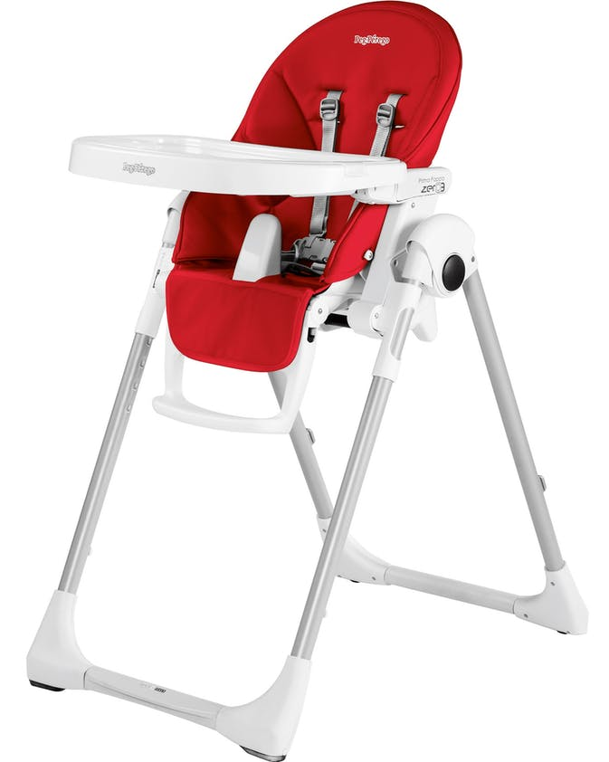 Chaise haute Prima Pappa Zero3 de Peg-Pérego - rouge