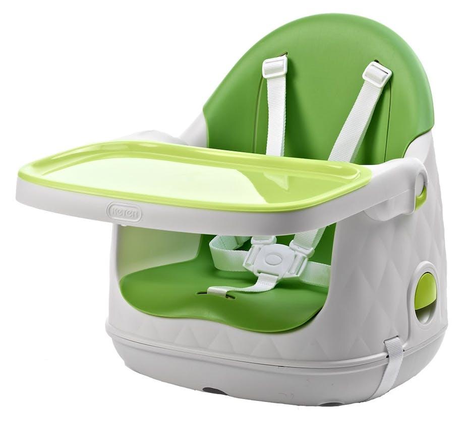 Chaise haute Multi Dine de Babytolove - réhausseur coffre vert lime