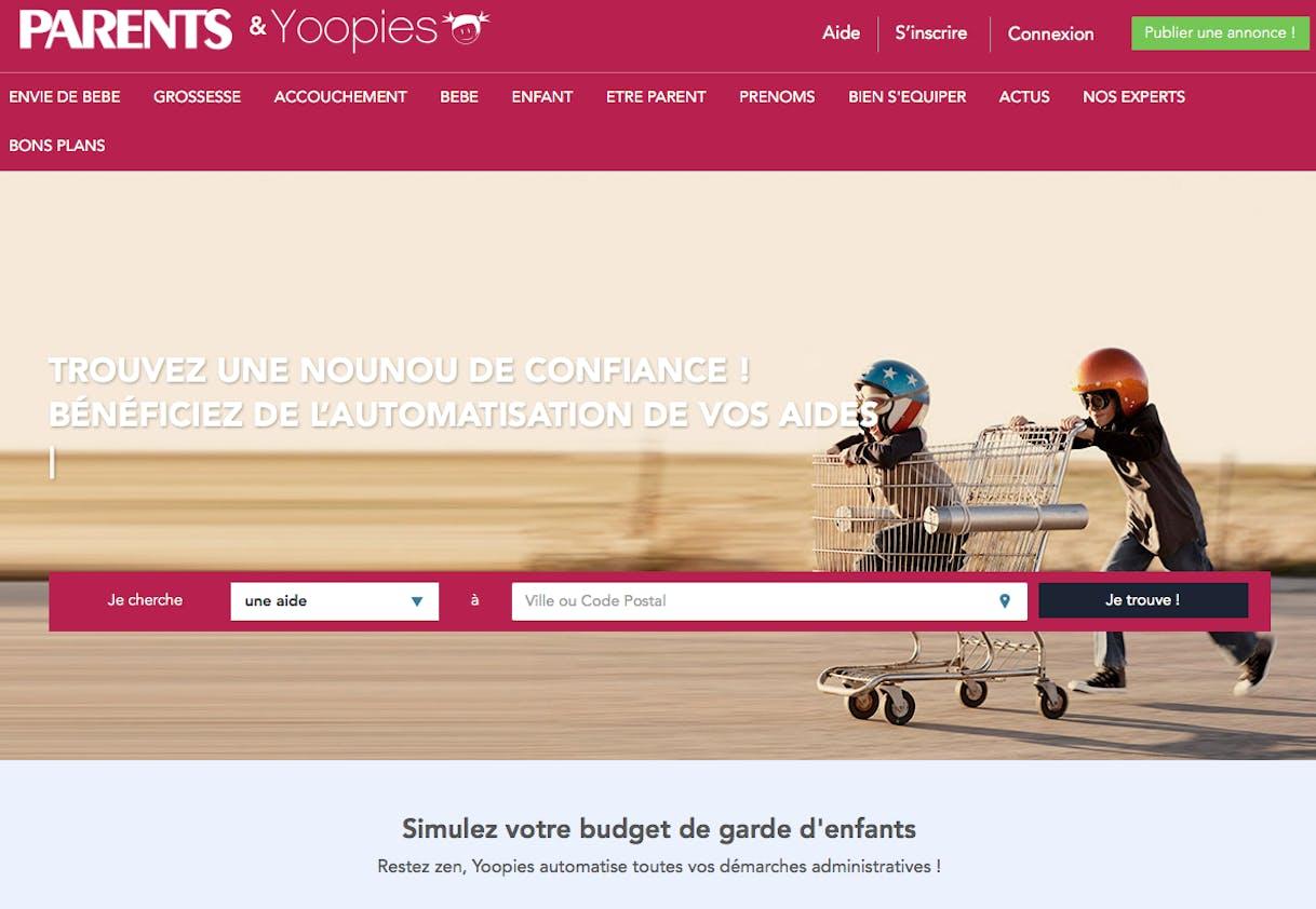 Site Yoopies pour trouver une nounou