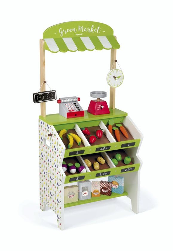 Epicerie Green Market en bois, Janod, 99,99 e.
