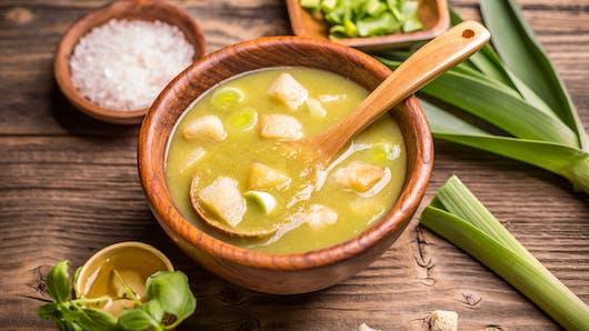 Recette de la soupe au poireau et au lait