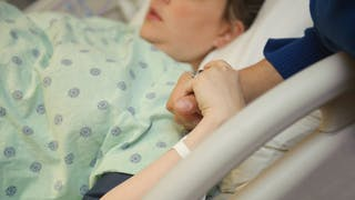 contractions pendant accouchement