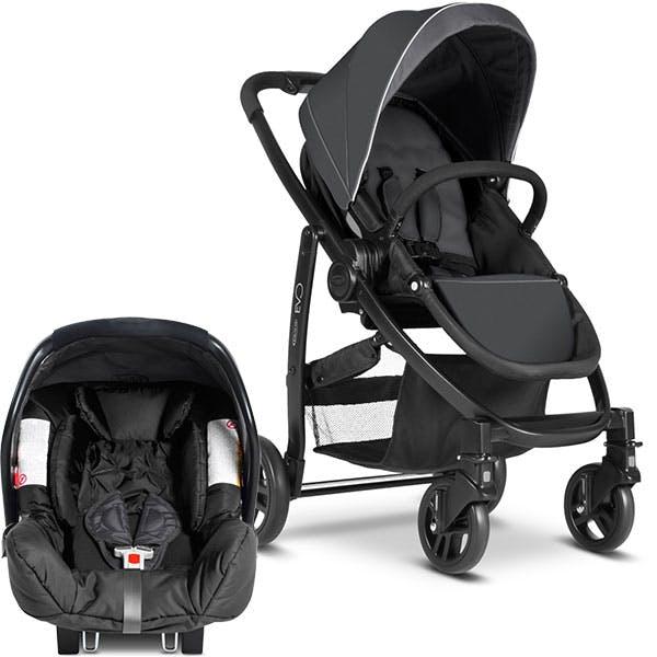 Poussette duo Travel System Evo de Graco - siège auto coque cosy Junior Baby