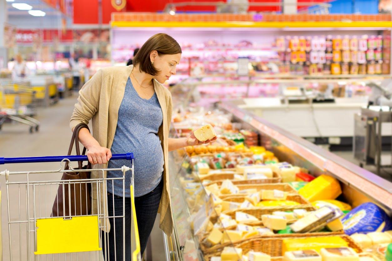 femme enceinte supermarché